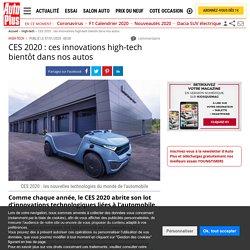CES 2020 : les nouvelles technologies de l'automobile