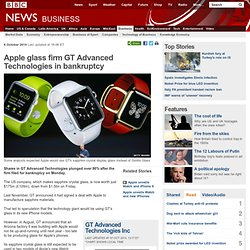 Apple glass firm GT Advanced Technologies in bankruptcy