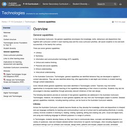Technologies: General capabilities - The Australian Curriculum v7.3