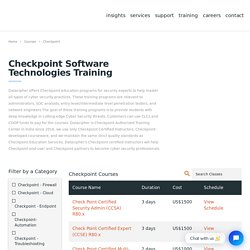 Checkpoint Software Technologies Training - Checkpoint Certification - Datacipher