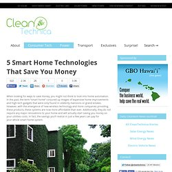 5 Smart Home Technologies That Save You Money