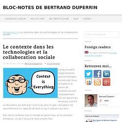 Le contexte dans les technologies et la collaboration sociale