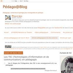 Les TIC (Technologies d'information et de communication) en pédagogie