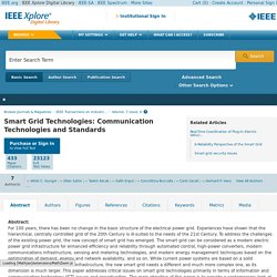 IEEE Xplore Document - Smart Grid Technologies: Communication Technologies and Standards