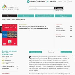 Les technologies de l'information et de la communication (TIC) et le contenu du travail