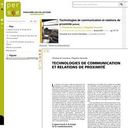 Technologies de communication et relations de proximité