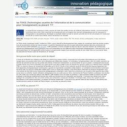 innovation pédagogique - les TUICE (Technologies usuelles de l'information et de la communication pour l'enseignement) au placard ?!?