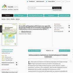 Un modèle pédagogique global pour une approche du paysage fondée sur les nouvelles technologies de l'information et de la communication (NTIC)