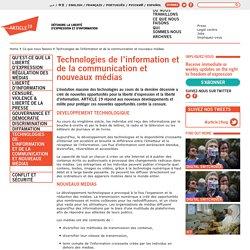 Technologies de l'information et de la communication et nouveaux médias · Ce que nous faisons