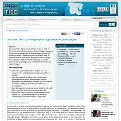 L'Agence nationale des Usages des TICE - Autisme : les technologies pour apprendre à communiquer