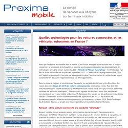 Quelles technologies pour les voitures connectées et les véhicules autonomes en France ?