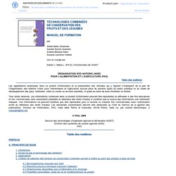 FAO - 2004 - Technologies Combinées de Conservation des Fruits et des Légumes