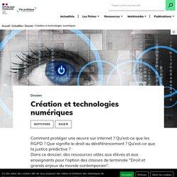 Création et technologies numériques, droit grands enjeux contemporains