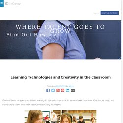 Learning Technologies and Creativity in the Classroom – GoConqr