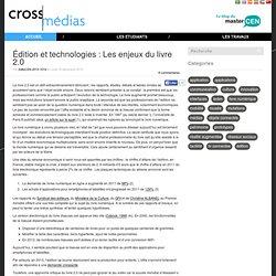 Édition et technologies : Les enjeux du livre 2.0