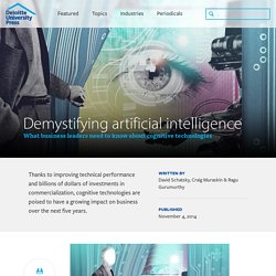 Cognitive technologies: Demystifying artificial intelligence