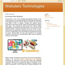 Webuters Technologies: E-commerce Web Designing