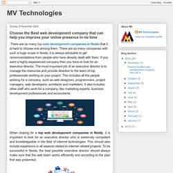 MV Technologies: Choose the Best web development company that can help you improve your online presence in no time