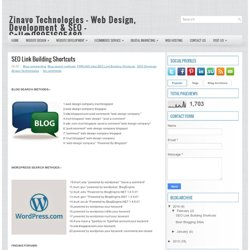 SEO Link Building Shortcuts ~ Website Design, Development & SEO Company Call @ 08553452211