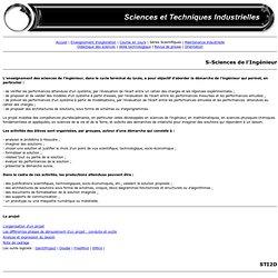 Sciences et Technologies de l'Industrie et du Développement Durable