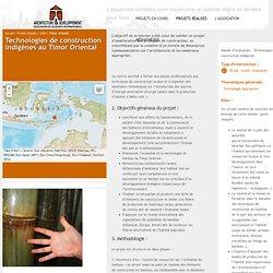 Architecture & Développement - Technologies de construction indigènes - Bambou