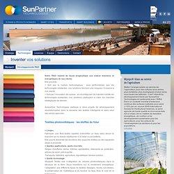 Sunpartner Technologies » Projets R&D
