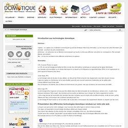 Introduction Technologies Domotique