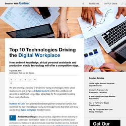 Top 10 Technologies Driving the Digital Workplace