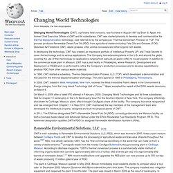 Changing World Technologies