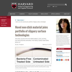 Novel non-stick material joins portfolio of slippery surface technologies