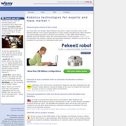 Wany Robotics | Robotics technologies and engineering services for education, research and consumer products