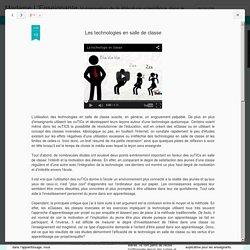 Madame L'Enseignante: Les technologies en salle de classe