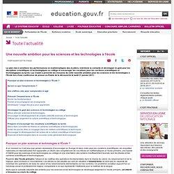 Plan 31 /01/2011pour les sciences-MEN