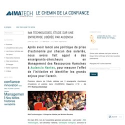 IMA Technologies, étude sur une entreprise libérée par audencia