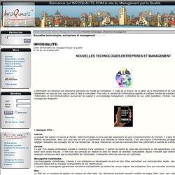Nouvelles technologies, entreprises et management