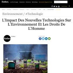 L'Impact Des Nouvelles Technologies Sur L'Environnement Et Les Droits De L'Homme