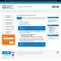 Licence Sciences et technologies