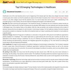 Top 5 Emerging Technologies in Healthcare