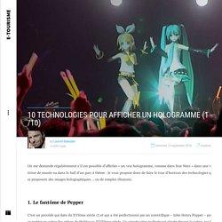 10 technologies pour afficher un hologramme (1/10)