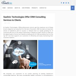 SaaSnic Technologies Offer CRM Consulting Services to Clients - Salesforce implementation and Development company