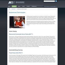 Measurement Incorporated ® ~ Excellence in Assessment™