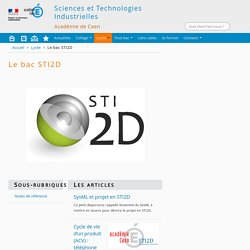Sciences et Technologies Industrielles - Académie de CAEN