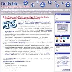 Plan d'actions pour la diffusion des technologies de l'information dans les entreprises et portail mon entreprise en ligne avec 2 guides