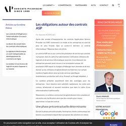 Obligations autour des contrats ASP - Droit des nouvelles technologies / Info...