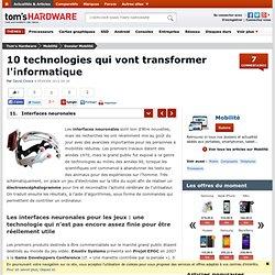 Interfaces neuronales - 10 technologies qui vont transformer l'informatique