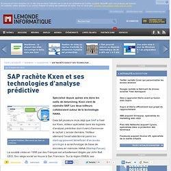 SAP rachète Kxen et ses technologies d'analyse prédictive