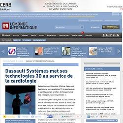Dassault Systèmes met ses technologies 3D au service de la cardiologie