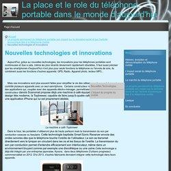Nouvelles technologies et innovations