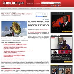 Nouvelles technologies | High Tech : le top 10 des innovations africaines