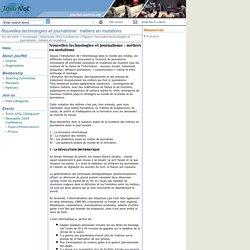 Nouvelles technologies et journalisme : métiers en mutations: UNESCO-CI